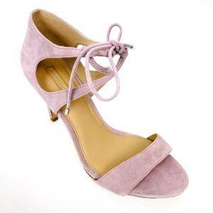 NEW ANTONIO MELANI Kalee Suede Ankle Heel Sandals